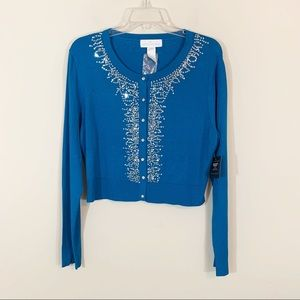 NWOT Soft Surroundings • Sequin Cardigan Large